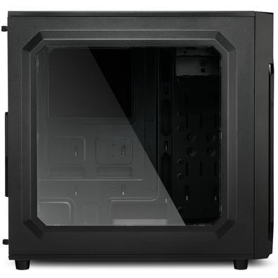 Gabinete Gamer Sharkoon VG6-W RGB ATX sem Fonte, USB 3.0, 3 Fans LED, Preto com Lateral em Acrílico