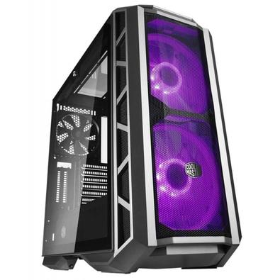Gabinete Gamer Cooler Master MasterCase H500P Mesh, RGB, 2 Coolers, Lateral em Vidro, Gun Metal - MCM-H500P-MGNN-S10