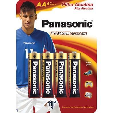 Pilha Panasonic Alcalina AA 1.5V Power com 4 Unidades - LR6XAB/4B192