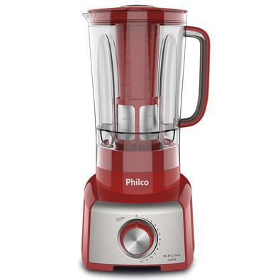 Liquidificador Philco, 1200W, 220V, Vermelho/Prata - PLQ912V