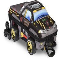Mochila Escolar 3D com Rodinhas e Lancheira MaxToy Pickup Chrome Weels Preto