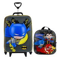 Mochila Escolar Masculina Batman 3D com Lancheira MaxToy