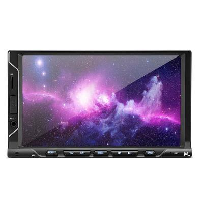 Central Multimídia Multilaser Evolve FIT S Tela 7 Pol Capacitiva 2Din Mp5 Mirror Link iOS Android 4x35W Bluetooth + FM + Cartão SD + USB + AUX - P3340