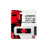 Pendrive 32GB Kingston DT106/32GB Datatraveler 106 USB 3.1 Preto