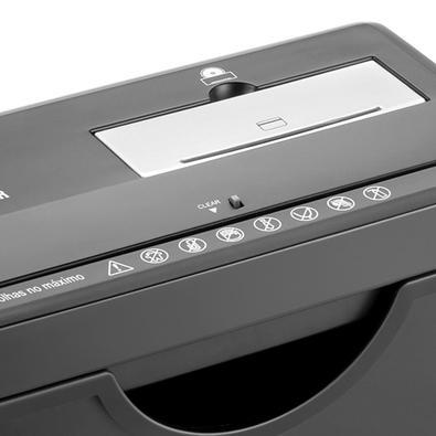 Fragmentadora Com Cesto 127V Of003 - Até 7 Folhas A4 Ao Mesmo Tempo - Cd / Dvd E Cartão Magnético