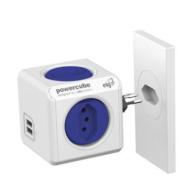 Multiplicador de Tomada ELG PowerCube 4 tomadas + 2 USB PWC-R4U