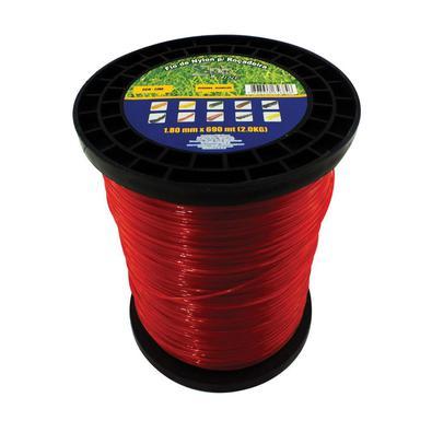 Fio de Nylon Spin Rolo 1,80mm 2kg 690 Metros Vermelho Fio de Nylon Spin Rolo 1.80mm 2kg 690 Metros Vermelho
