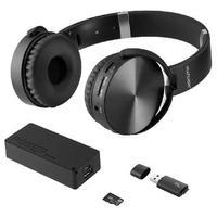 Kit Music Play Headphone Bluetooth Sd/Aux/Fm + Power Bank 4000 Mah + Leitor Usb + Micro Sd 32Gb C10