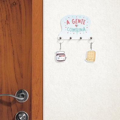 Porta Chaves com Chaveiros A Gente Combina