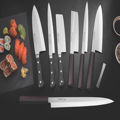 Faca Nakiri Tramontina Sushi com Lâmina em Aço Inox e Cabo de Nylon 7
