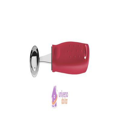 Boleador Tramontina Utilitá em Aço Inox com Cabo de Polipropileno Vermelho 2,4 cm Tramontina