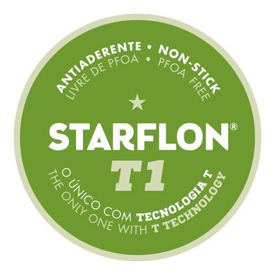 Assadeira Rasa Tramontina em Alumínio com Revestimento  Antiaderente Starflon Vermelha 22 cm 1,4 L Tramontina
