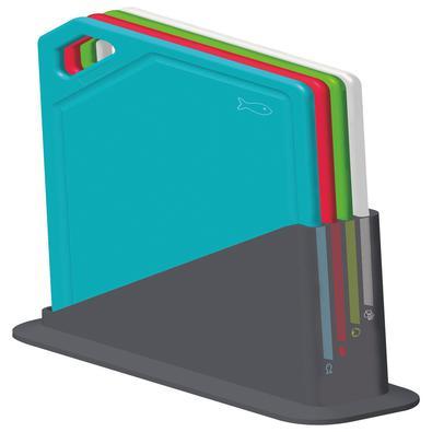 Conjunto de Tábuas de Corte Tramontina Mixcolor com Suporte 5 Peças Tramontina