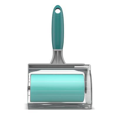 Rolo Adesivo Lavável FlashLimp Cinza e Verde