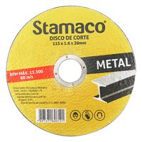 Disco De Corte Metal 115x 1.6x 20mm Stamaco 115mm