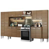 Cozinha Completa Madesa Emilly Joycom Armário e Balcão 15 Portas 1 Gaveta Rustic Cor:Rustic
