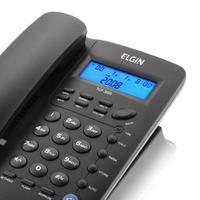 Telefone Com Fio Indentificador De Chamadas Agenda Para 12 Números Tcf 3000 Preto