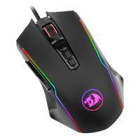 Mouse Gamer Redragon Ranger RGB 12400DPI 9 Botões Programáveis Cabo de Malha USB - M910-RGB