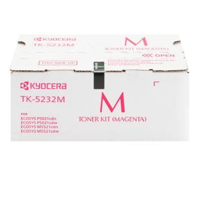 Toner Kyocera TK-5232 Alto Rendimento P/ Ecosys P5021Cdn M5521Cdn, 2.200 Pags, Magenta