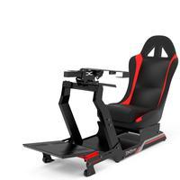 Cockpit Extreme Simracing Virtual Experience VE.3, Suporte para volantes, Preto e Vermelho