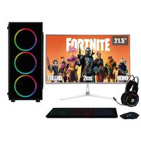 Computador PC Gamer Completo 3green XP Intel Core i5, 8GB, Placa de vídeo Radeon RX 550 4GB, SSD 120GB, HD 2TB, 500W, Monitor 21.5, 75Hz, Prata