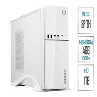 Computador Skill Slim PC Intel G4930 8ª Geração, 4GB, DDR4, HD 1TB, Intel UHD 610, HDMI, Full HD