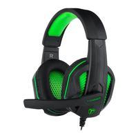 Headset Gamer T-Dagger Cook, Preto e Verde - T-RGH100