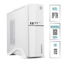 Computador Skill SlimPC Intel Celeron G4930 8ª Geração, 8GB, DDR4, HD 1TB, Intel UHD 610, HDMI, Full HD