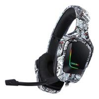 Headset Gamer Onikuma K20 com Microfone, Compatível com PS4, Xbox One e Celular, Camuflado/Branco