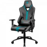 Cadeira Gamer ThunderX3 YC3, Suporta até 150Kg, Preta/Ciano