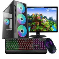 Computador Gamer Work Shop com Processador Intel Core i3-540 3.60GHz, 8GB de Memória Ram, SSD 120GB, Placa de Vídeo Nvidia GeForce GT730, Entrada HDMI e VGA, Windows 10 com Monitor 18.5