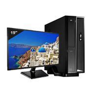 """Mini Computador ICC Intel Core i5, 8GB, HD 2TB, DVDRW, Kit Multimídia, Monitor 19.5"""", Windows 10 - SL2583CM19"""