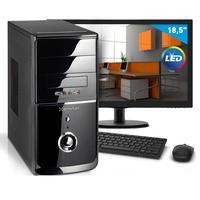 "Kit - Computador Smart Pc 80175 Intel Core I3 (4GB HD 500GB) + Monitor 18,5"" Linux"
