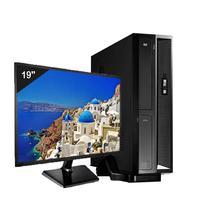 Mini Computador ICC SL2387SM19 Intel Core I3 8gb HD 240GB SSD Monitor 19,5 Windows 10