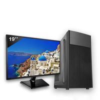 Computador Completo Icc Intel Core I3 4gb Hd 2tb Windows 10 Monitor 19