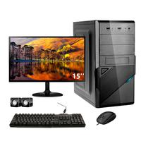 Computador Completo Corporate Asus 4° Gen I3 8gb Hd 1tb Dvdrw Monitor 15