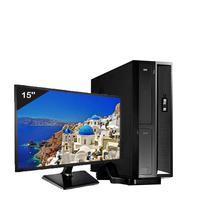 Mini Computador ICC SL2586Dm15 Intel Core I5 8gb HD 120GB DVDRW Monitor 15 Windows 10