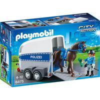 Playmobil Sunny, Polícia Montada Com Trailer 6922 - 1680