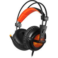 Headset Sades A6, 7.1, Usb, Preto Com Laranja