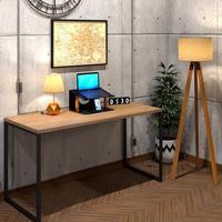 Mesa Para Escritório Diretor Estilo Industrial  Vintage 120x60 Cor Natural