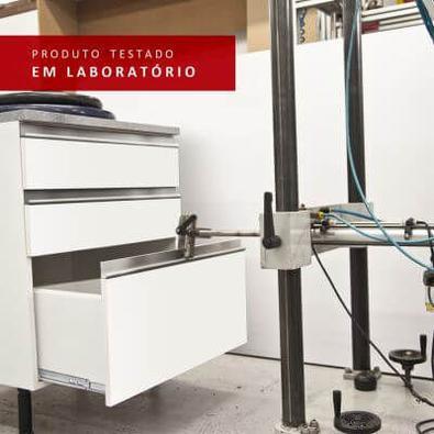 Cozinha Completa Madesa Safira com Armário e Balcão Branco/Crema + Tampo Cor:Branco/Branco/Crema
