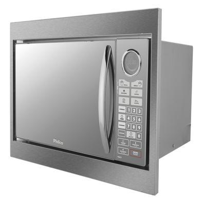 Microondas De Embutir Philco 30 Litros Pme31bm Prata Espelhado 110v