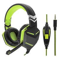Fone Gamer Headset Vermelho Pc Ps4 Xbox One P2 Microfone Knup Kp-433