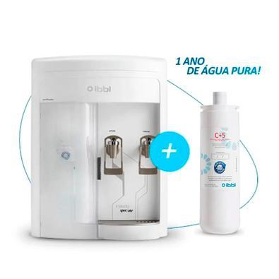 Kit 1 Ano Ibbl - Purificador De Água Fr600 Speciale Branco 110v + Filtro Refil Girou Trocou C+5 24010003 | 52011001