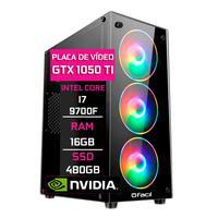 Pc Gamer Fácil, Intel Core I7 9700f, 16gb Ddr4 2666 Mhz, Geforce Gtx 1050ti 4gb, Ssd 480gb, Fonte 500w