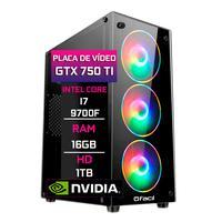 Pc Gamer Fácil, Intel Core I7 9700f, 16gb, Geforce Gtx 750ti 4gb, Ddr4, Hd 1tb, Fonte 500w