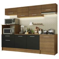 Cozinha Completa Madesa Onix 240003 com Armario e Balcão Rustic/Preto 5Z7K Cor:Rustic/Rustic/Preto