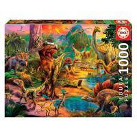 Puzzle 1000 Peças Terra De Dinossauros - Educa - Importado