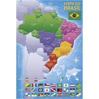 Quebra Cabeça 200 Peças Mapa Do Brasil
