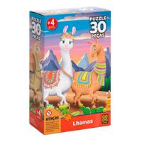 Puzzle 30 Peças Lhamas